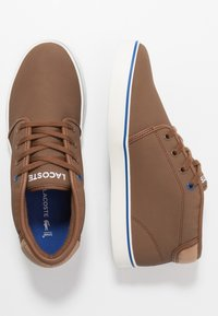 Lacoste - AMPTHILL THERMO - High-top trainers - brown/blue - 0