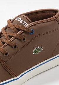 Lacoste - AMPTHILL THERMO - High-top trainers - brown/blue - 2