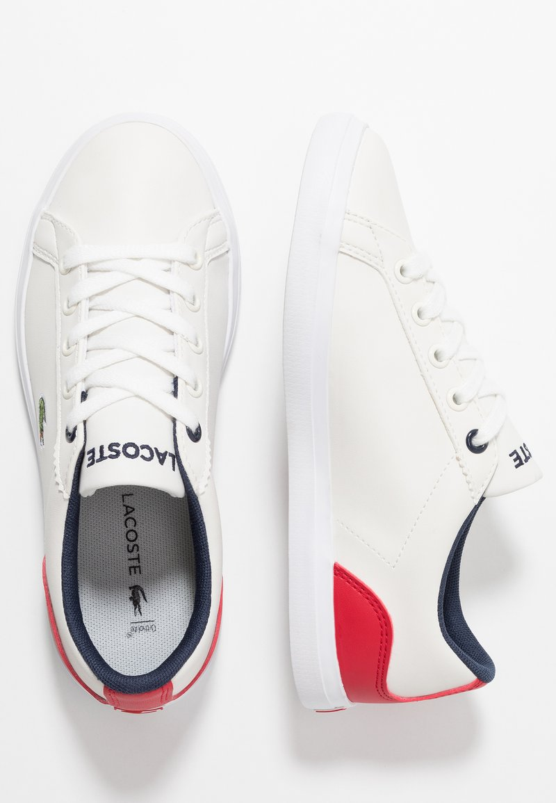 Lacoste - LEROND - Trainers - offwhite/red