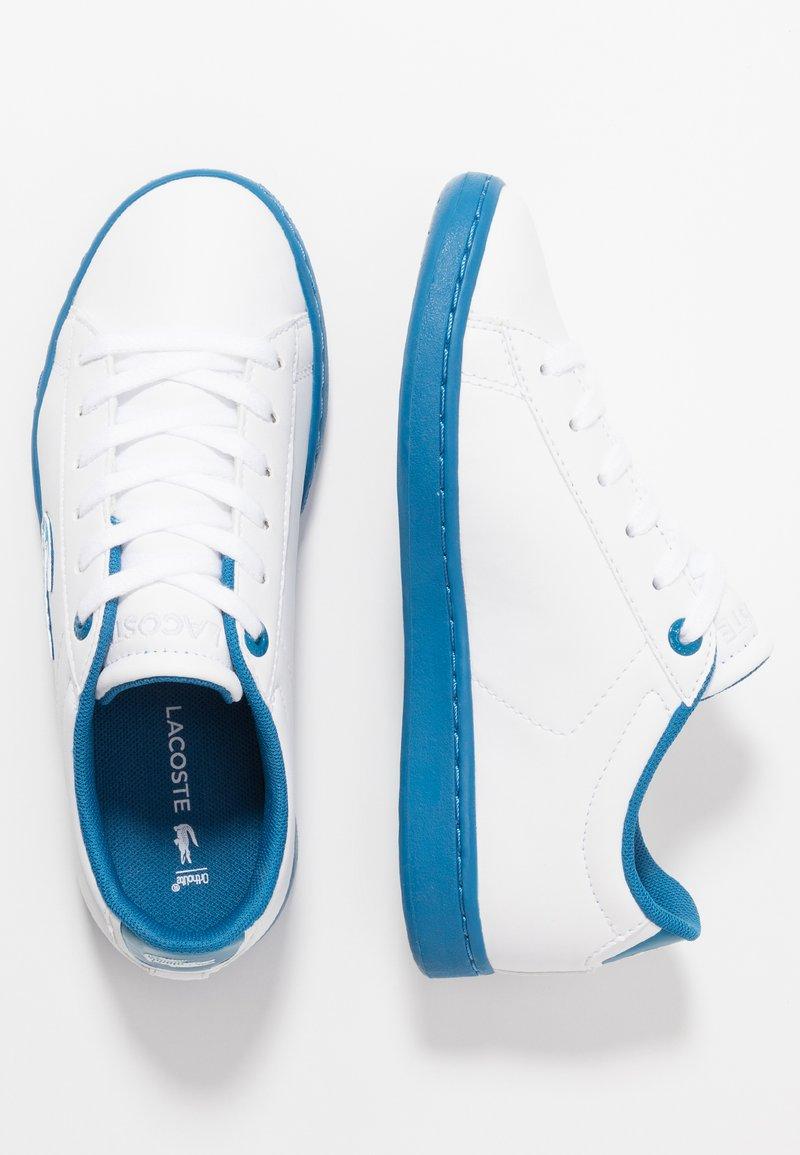 Lacoste - CARNABY EVO - Sneakersy niskie - white/blue