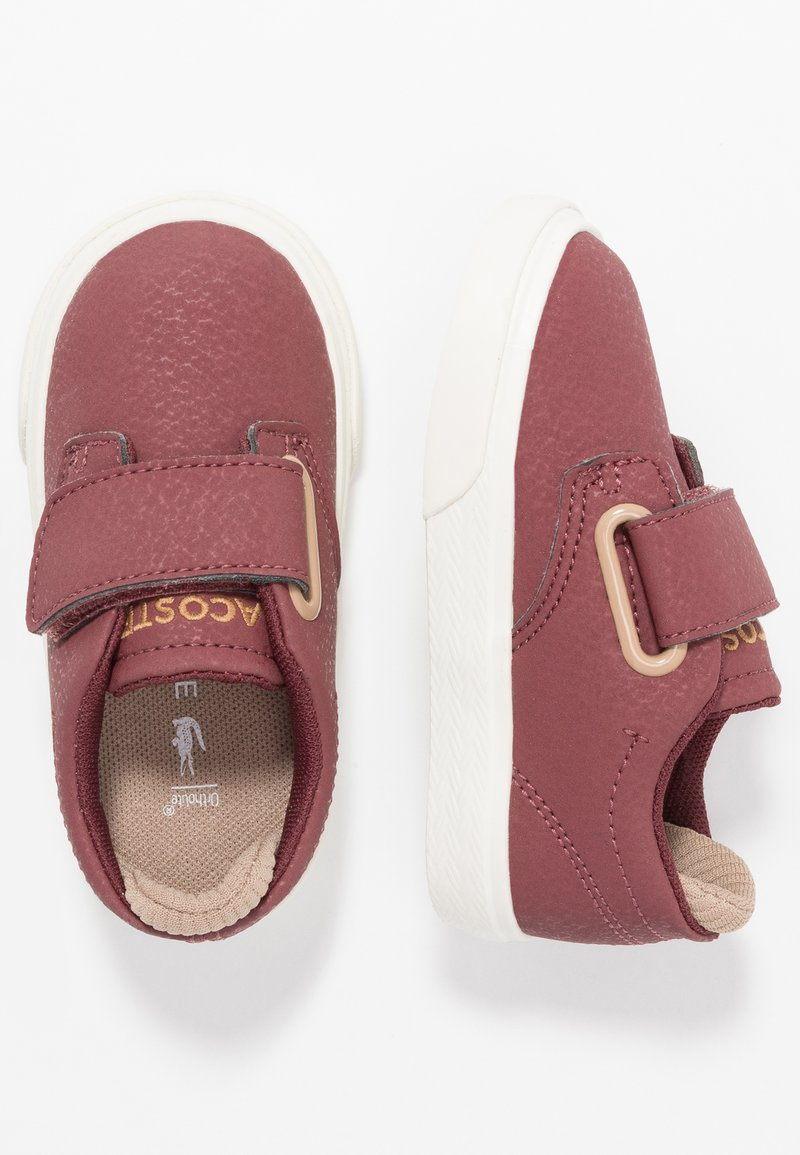 Lacoste - ESPARRE - Trainers - dark red/offwhite
