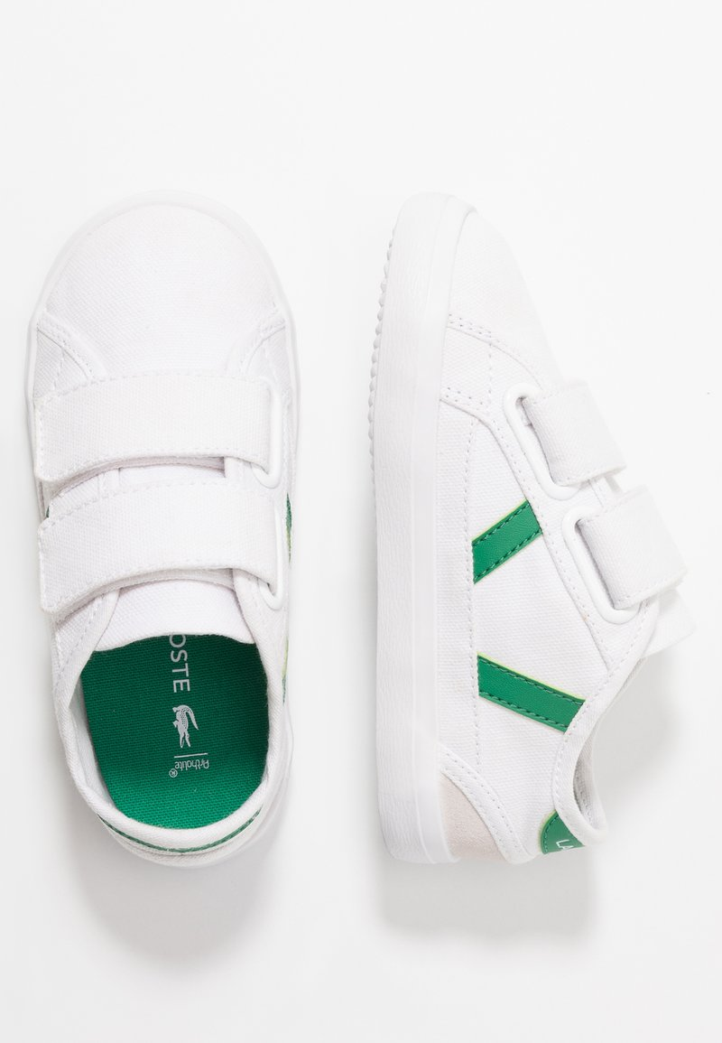 Lacoste - SIDELINE - Trainers - white/green