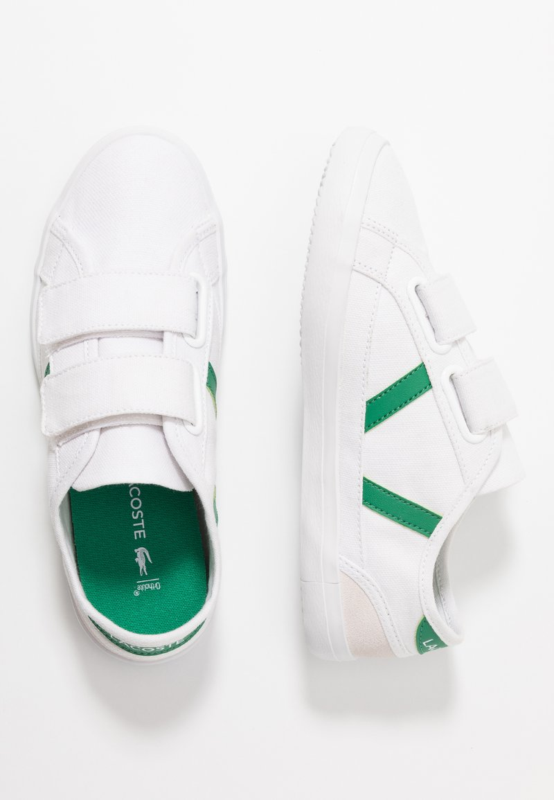 Lacoste - SIDELINE - Sneaker low - white/green