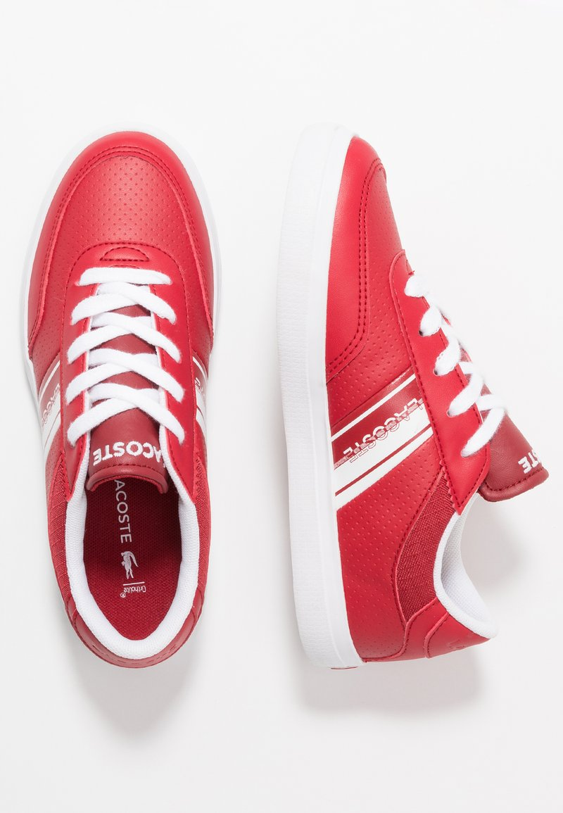 Lacoste - COURT MASTER - Sneaker low - red/white