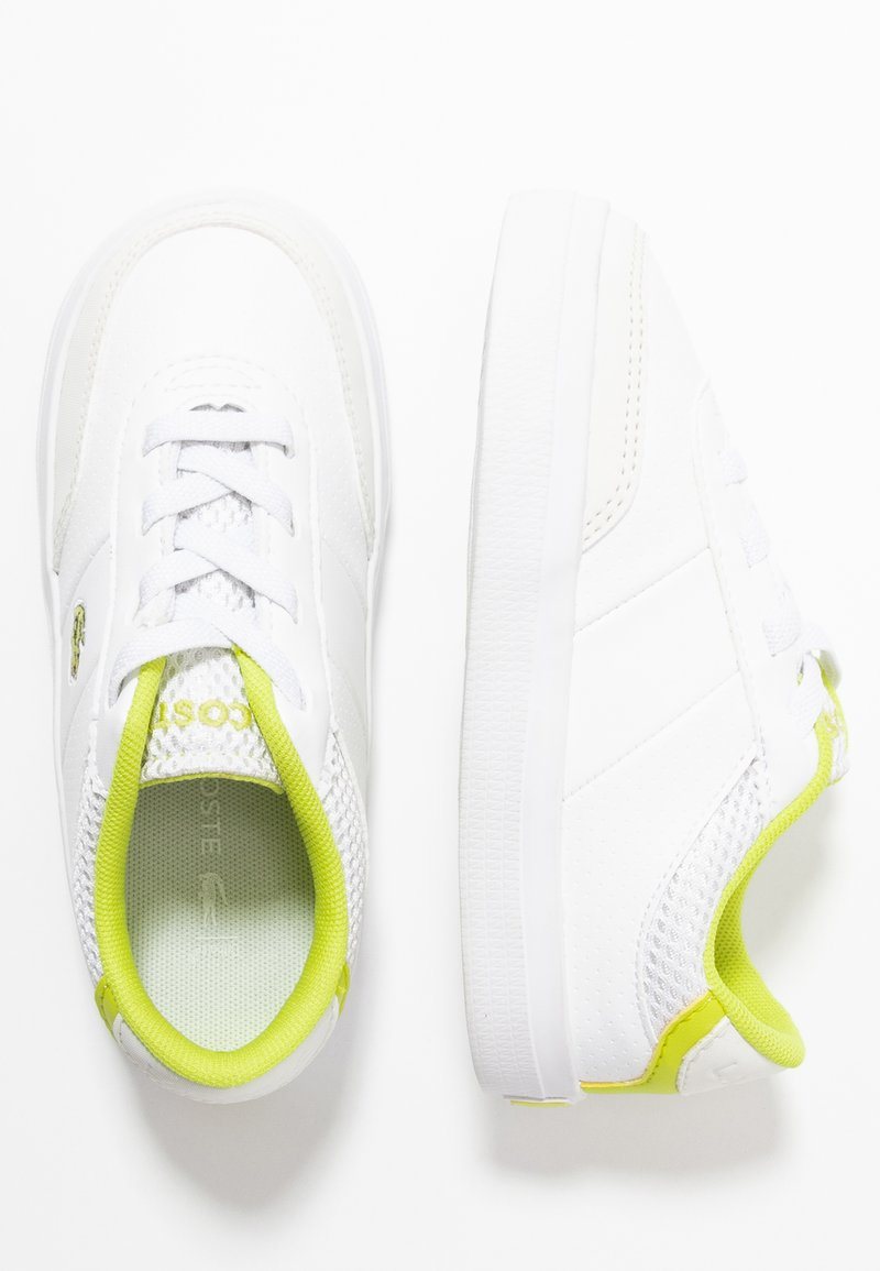 Lacoste - COURT MASTER  - Trainers - white/yellow