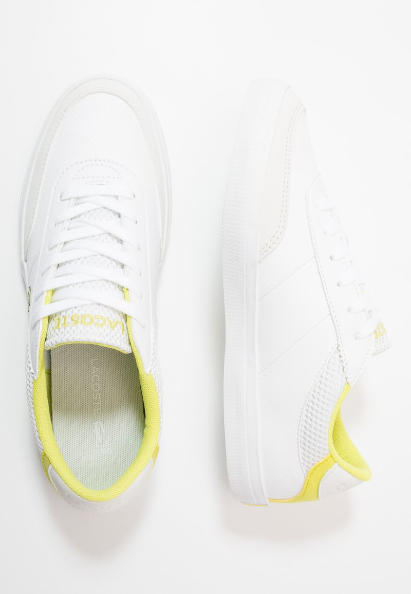 Lacoste - COURT-MASTER - Trainers - white/yellow