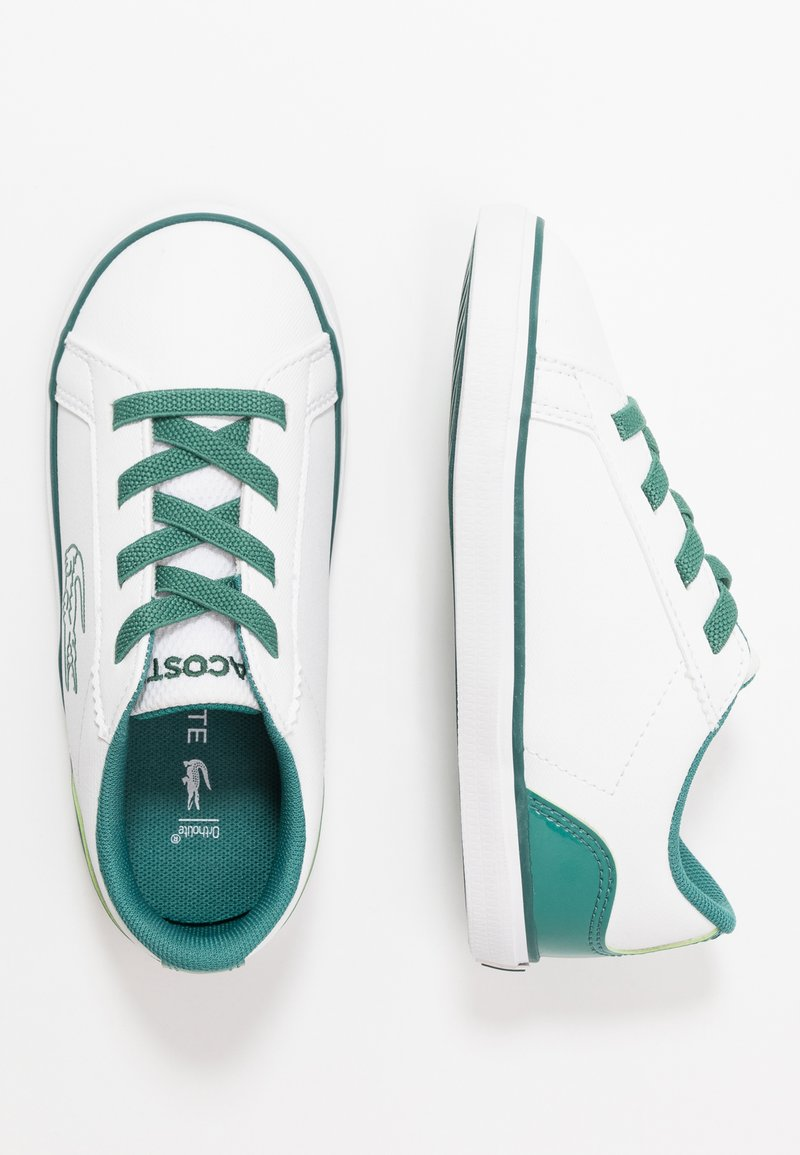Lacoste - LEROND - Mocasines - white/green