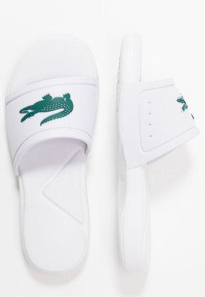 Sandales de bain - white/green