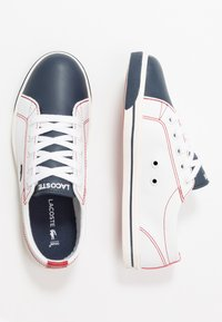 Lacoste - RIBERAC - Sneakers laag - white/navy/red - 0