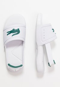 Lacoste - L.30 SLIDE - Pool slides - white/green - 0