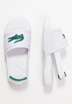L.30 SLIDE - Rantasandaalit - white/green