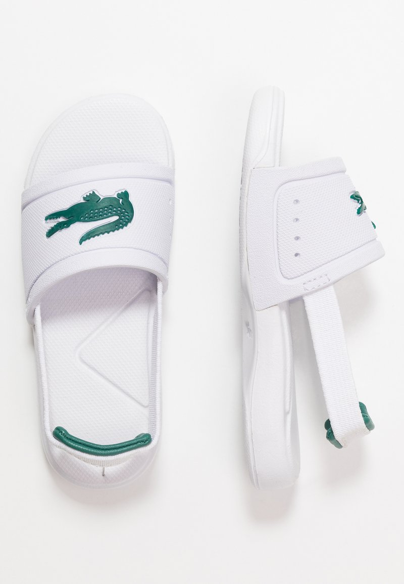 Lacoste - L.30 SLIDE - Pool slides - white/green