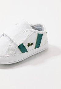 Lacoste - SIDELINE CUB - Cadeau de naissance - white/green - 2