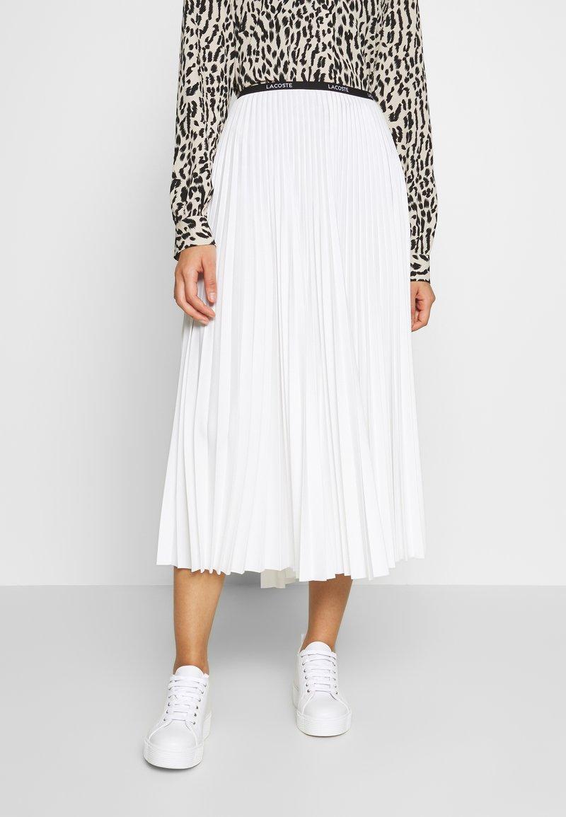 Lacoste - PLEATED SKIRT-JF5455 - A-line skirt - flour