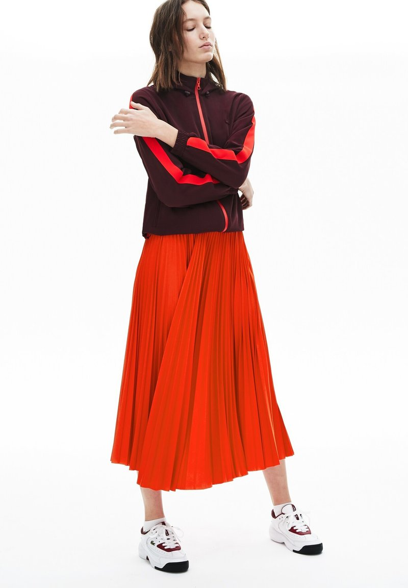 Lacoste - PLEATED SKIRT-JF5455 - Jupe trapèze - rouge