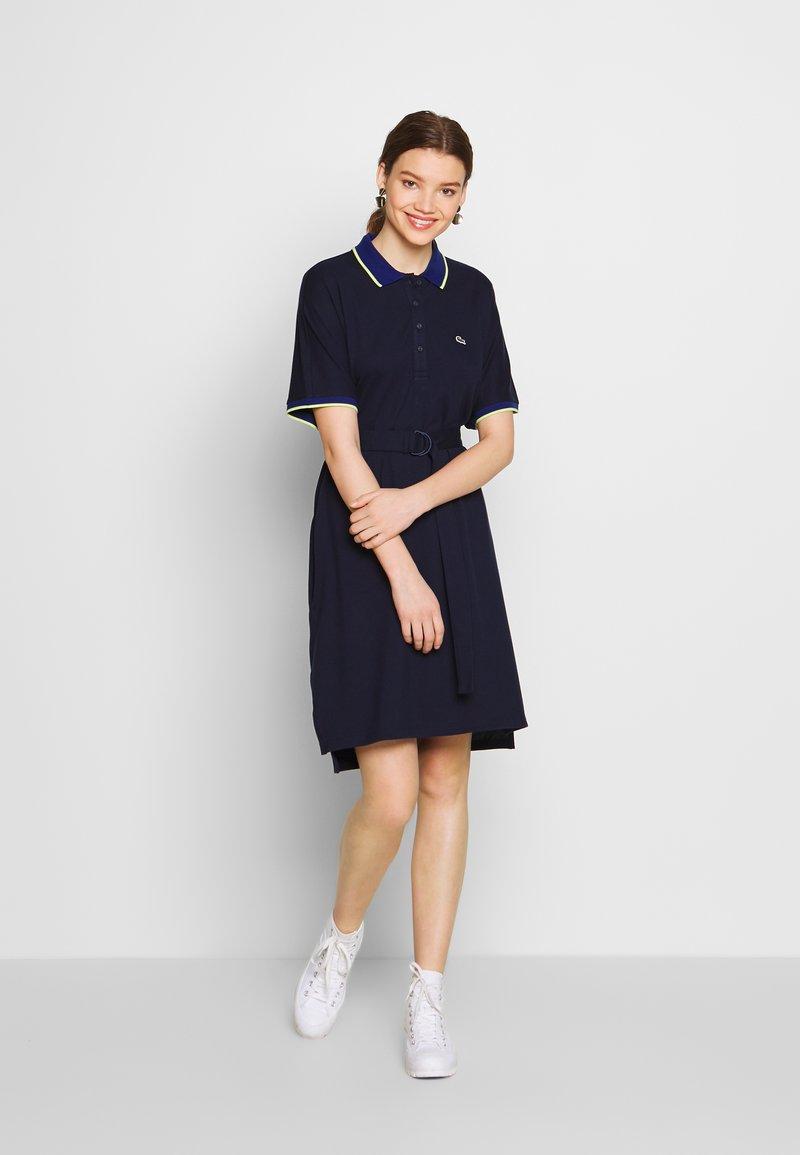 Lacoste - Sukienka letnia - navy blue/methylene subal