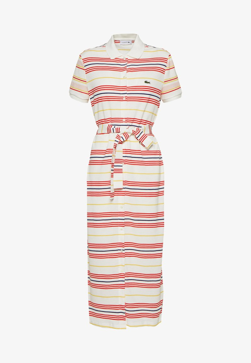 Lacoste - Sukienka koszulowa - red
