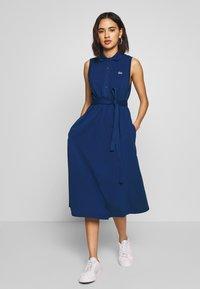 Lacoste - Jerseykjoler - blue - 0