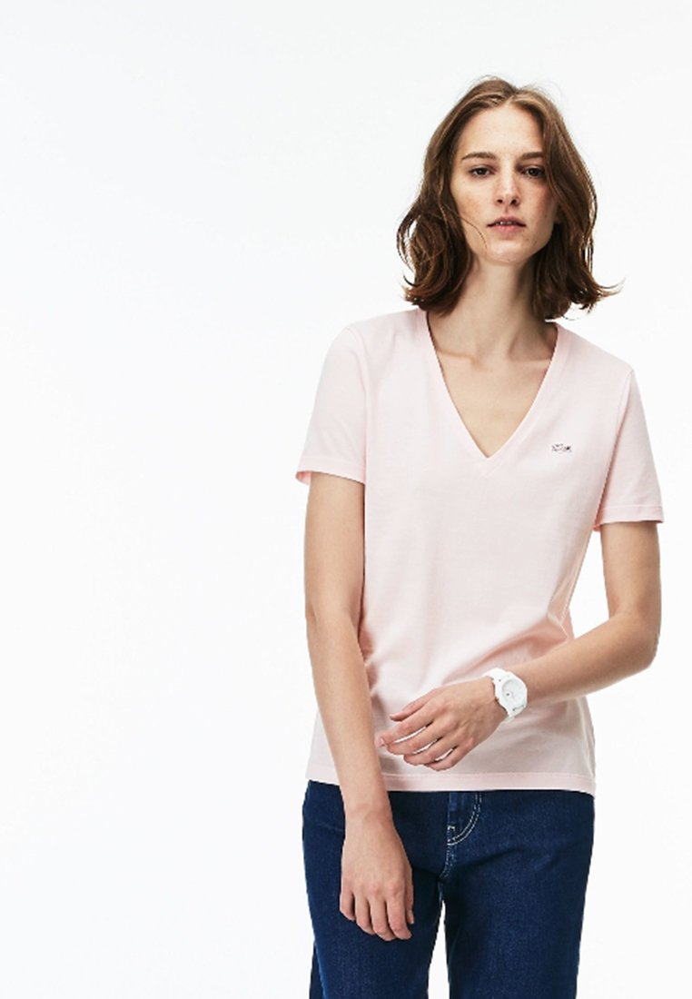 Lacoste - T-Shirt basic - rose