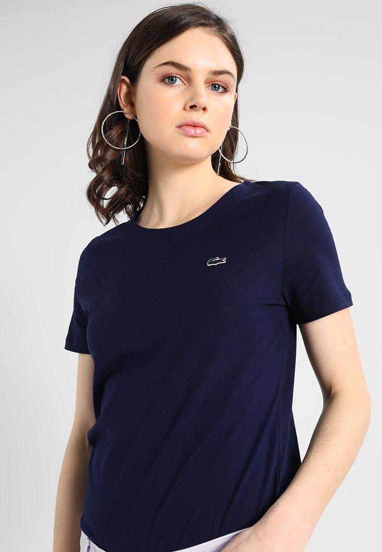 Lacoste - ROUND NECK CLASSIC TEE - Basic T-shirt - marine