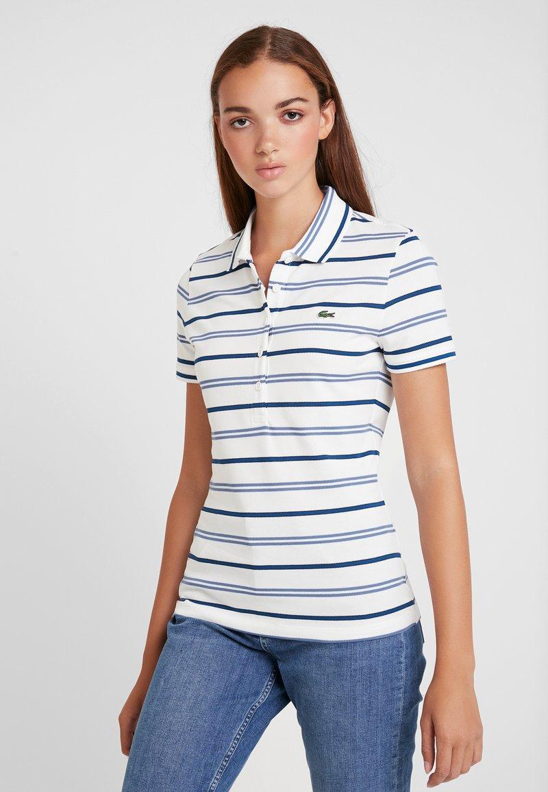 Lacoste - Polo shirt - flour/king raffia matting/navy blue