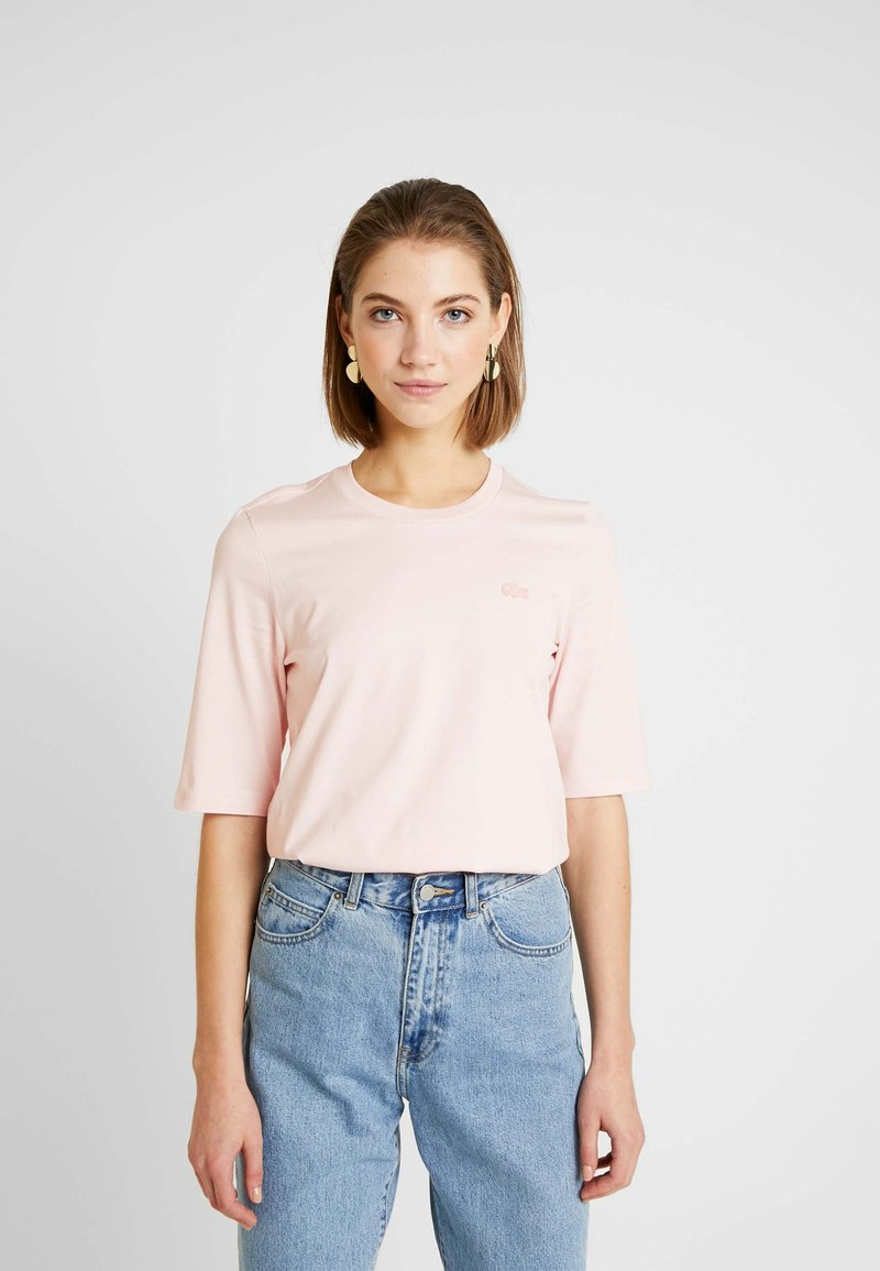 Lacoste - ROUND NECK CLASSIC TEE - Basic T-shirt - light pink