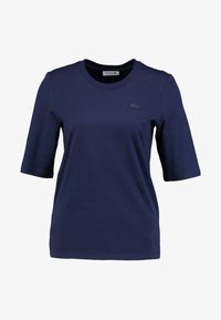 Lacoste - ROUND NECK CLASSIC TEE - Basic T-shirt - navy blue - 4