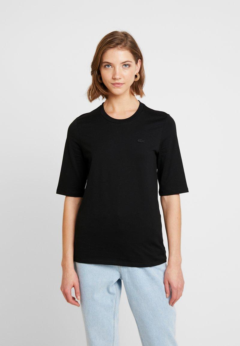 Lacoste - ROUND NECK CLASSIC TEE - T-shirt basic - black