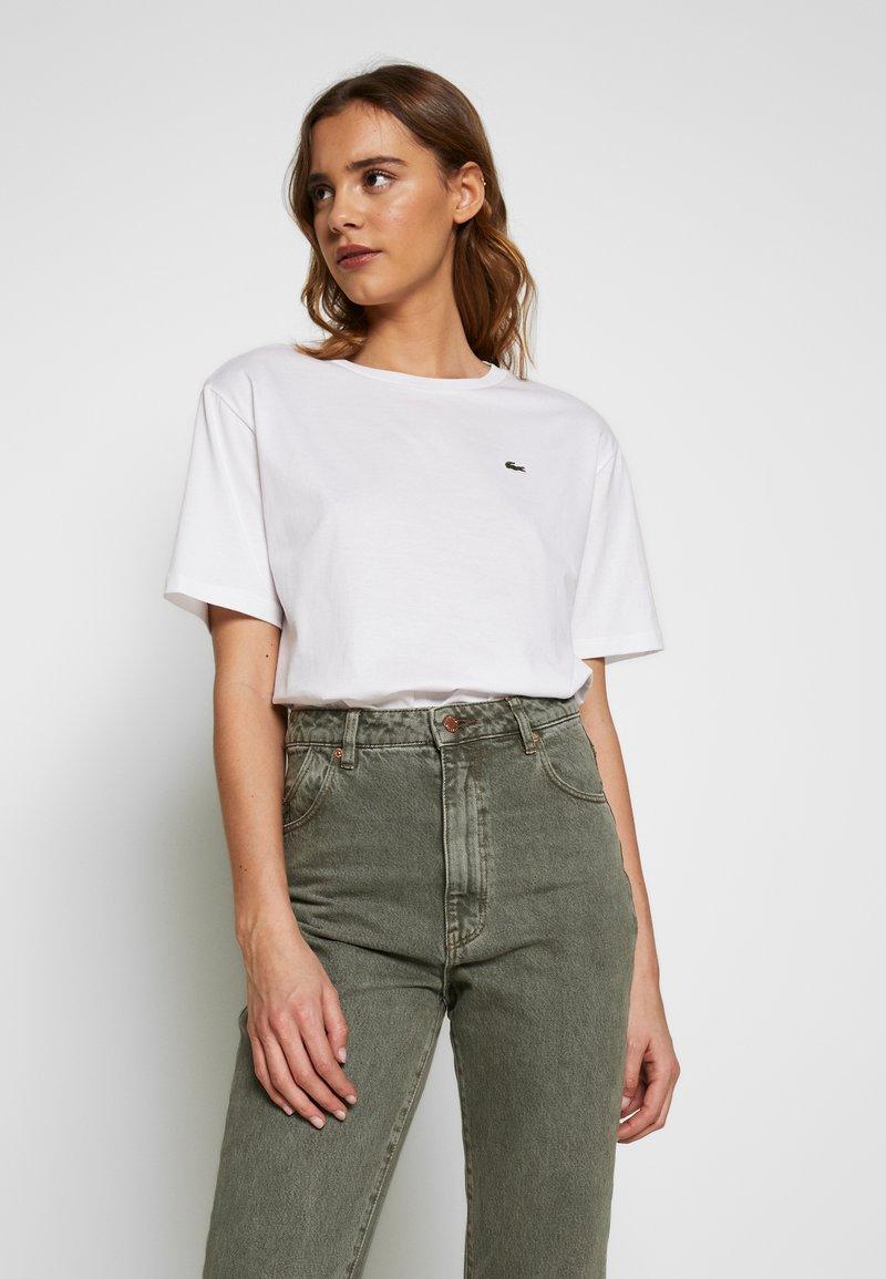 Lacoste - DAMEN RUNDHALS - Basic T-shirt - white
