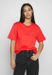 Lacoste - DAMEN RUNDHALS - Basic T-shirt - energy red - 0