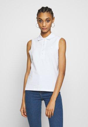 SLEEVELESS BASIC SLIM FIT - Poloshirts - white