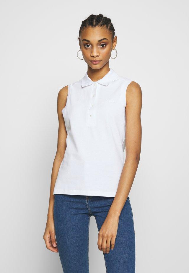 SLEEVELESS BASIC SLIM FIT - Poloshirt - white