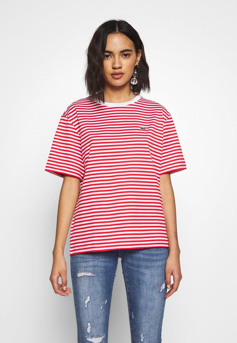 Lacoste - T-shirt imprimé - corrida/white
