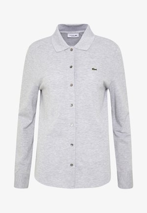 POLO LONG SLEEVE - Chemisier - silver chine
