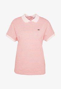 Lacoste - Print T-shirt - corrida/flour - 4