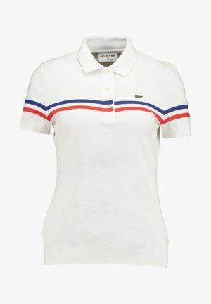 POLO FEMME - Polo - blanc/capitaine blanc