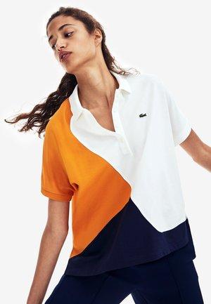 Polo - navy blue/white/orange