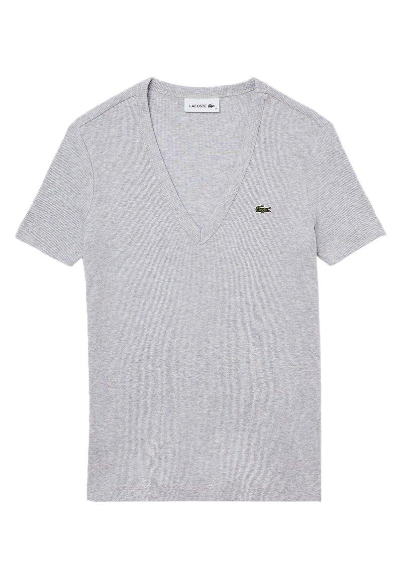Lacoste - T-shirt basique - gris chine