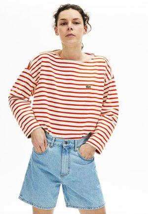 T-shirt à manches longues - white/red