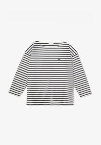 Lacoste - T-shirt à manches longues - blanc / bleu marine - 5