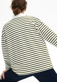Lacoste - T-shirt à manches longues - blanc / bleu marine - 3