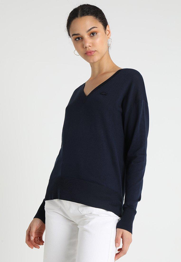 Lacoste - V NECK - Jersey de punto - navy blue