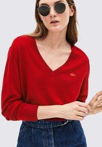 Lacoste - V-NECK - Pullover - bordeaux - 0