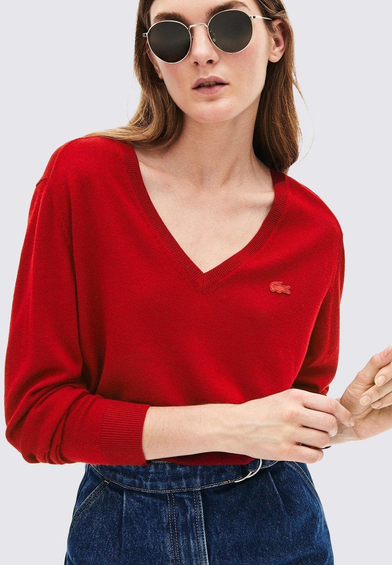 Lacoste - V-NECK - Pullover - bordeaux