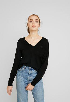 V-NECK - Jersey de punto - noir