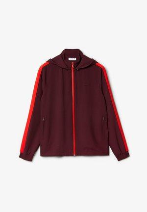 veste en sweat zippée - bordeaux / rouge