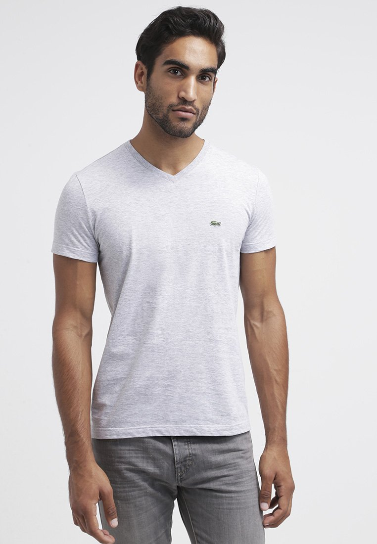 Lacoste - T-shirts - argent chine