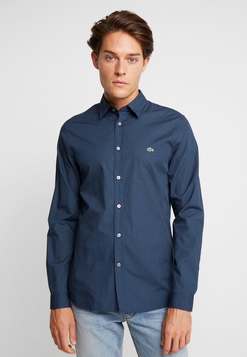 Lacoste - Košile - navy blue/hemisphere blue/white