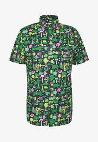 Lacoste - Unisex Lacoste x Jeremyville Regular Fit Cotton Shirt - Skjorter - marine/multico - 4