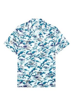 Shirt - blau/hellrosa/weiß